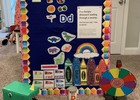 Our felt board is changed every week with a new theme and activities